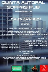 QUINTA AUTORAL JOHN BARBA E PEÇA cartaz